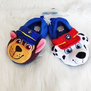 Paw Patrol Chase & Marshall Slippers NWT